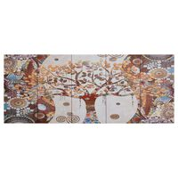 vidaXL Sada nástenných obrazov na plátne Strom rôznofarebná 150x60 cm