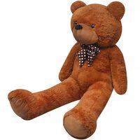vidaXL XXL Mäkký plyšový medvedík na hranie, hnedý 135 cm