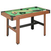 vidaXL 4-stopový biliardový stôl hnedý 122x61x76 cm