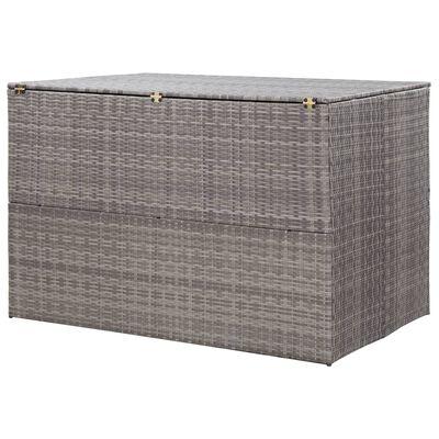 vidaXL Záhradný úložný box sivý 150x100x100 cm polyratanový
