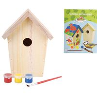 Esschert Design DIY hniezdiaci box s farbou 14.8x11.7x20 cm KG145