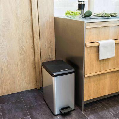 Curver Odpadkový kôš s pedálom úzky Deco 25 l strieborný 240639