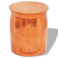 vidaXL Tepaná hliníková stolička/príručný stolík, farba mosadze/medi