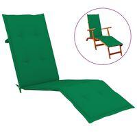 vidaXL Podložka na lehátko zelená (75+105)x50x4 cm