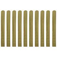 vidaXL Impregnované plotové dosky 10 ks, drevo 100 cm