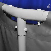 vidaXL Bazén s oceľovým rámom 457x122 cm antracitový