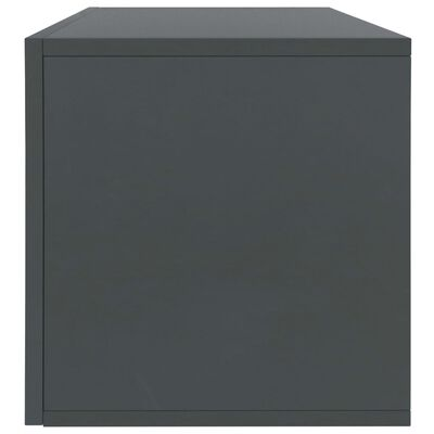vidaXL Box na vinylové platne sivý 71x34x36 cm drevotrieska