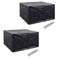 vidaXL Ochranné obaly na záhradný nábytok 2 ks 172x113cm polyratanová súprava pre 6 osôb 8 očiek