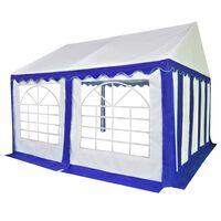 vidaXL Záhradná markíza PVC 3x4 m modro-biela