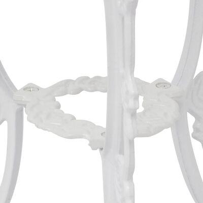 vidaXL 3-dielna bistro súprava biela liaty hliník