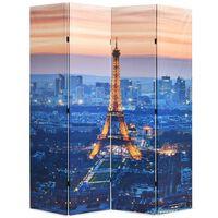 vidaXL Skladací paraván, 160x170 cm, potlač nočného Paríža