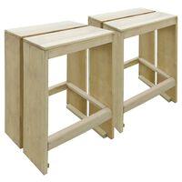 vidaXL Vonkajšie barové stoličky 2 ks, impregnovaná borovica