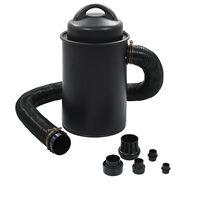 vidaXL Odsávač prachu s adaptérom, čierny 1100W
