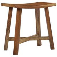 vidaXL Stolička do kúpeľne, drevený masív suar