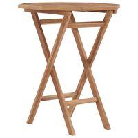 vidaXL Skladací záhradný stôl 60x60x75 cm teakový masív