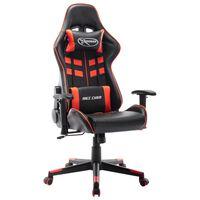 vidaXL Herná stolička čierno-červená umelá koža