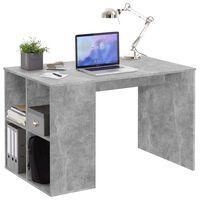 FMD Stôl s bočnými policami 117x73x75 cm farba betónu