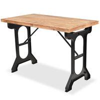 vidaXL Jedálenský stôl, doska z masívneho jedľového dreva, 122x65x82 cm