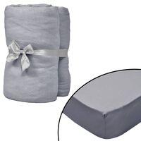 vidaXL Prestieradlá pre postieľku 4 ks sivé 40x80 cm bavlna jersey