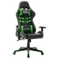 vidaXL Herná stolička čierno-zelená umelá koža