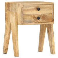 vidaXL Nočný stolík 40x35x50 cm, mangový masív