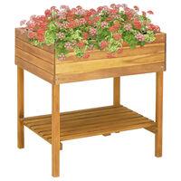 vidaXL Vyvýšený záhradný kvetináč 78,5x58,5x78,5 cm masívne akáciové drevo