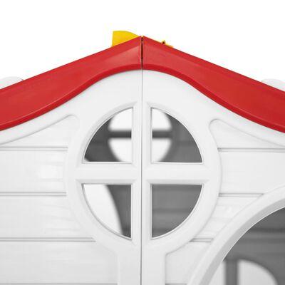 vidaXL Detský skladací domček s funkčnými dverami a oknami