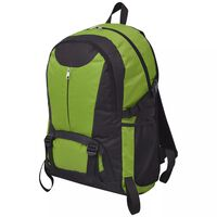 vidaXL Turistický batoh, 40 l, čierno-zelený