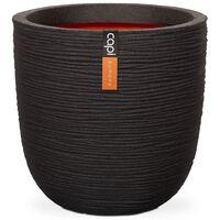 Capi Kvetináč v tvare vajca Nature Rib čierny 35x34 cm KBLR932
