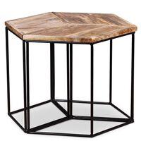 vidaXL Konferenčný stolík z masívneho mangovníkového dreva, 48x48x40cm