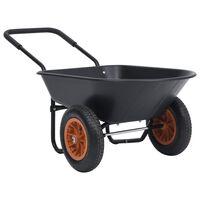 vidaXL Fúrik čierno-oranžový 78 l 100 kg