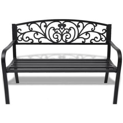 vidaXL Záhradná lavička 127 cm, liatina, čierna