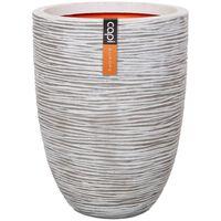 Capi Váza elegantná nízka farba slonoviny 46x58 cm KOFI783 Nature Rib