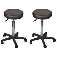 vidaXL Kancelárske stoličky 2 ks hnedé 35,5x98 cm umelá koža