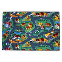 AK Sports Play Detský koberec s motívom dediny 140x200 cm 0309004