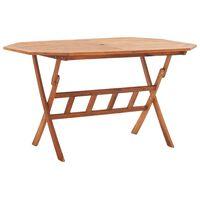 vidaXL Skladací záhradný stôl 135x85x75 cm, akáciový masív