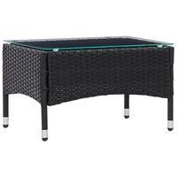vidaXL Konferenčný stolík, čierny 60x40x36 cm, polyratan
