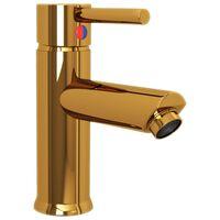vidaXL Kúpelňová vodovodná batéria zlatá 130x176 mm