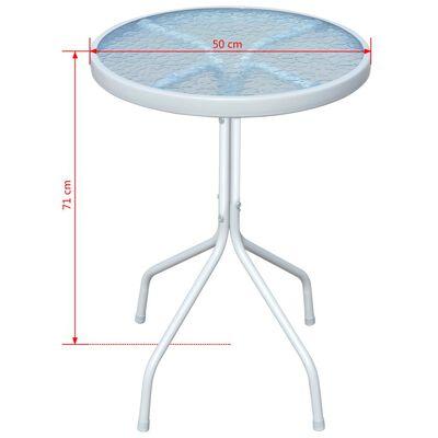 vidaXL Bistro stolík, sivý 50x71 cm, oceľ