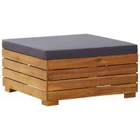 vidaXL Záhradná sekčná taburetka s vankúšmi masívne akáciové drevo
