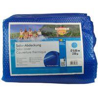 Summer Fun Letná solárna plachta na bazén, okrúhla 500 cm, PE, modrá