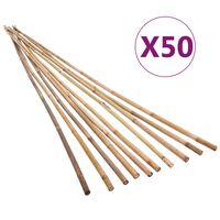 vidaXL Záhradné bambusové kolíky 50 ks 120 cm