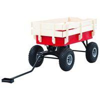 vidaXL Ručný vozík červený 150 kg