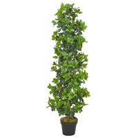 vidaXL Umelá rastlina, vavrín s kvetináčom, zelená 150 cm