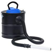 vidaXL Vysávač na popol s HEPA filtrom 1200 W 20 l oceľ