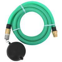 vidaXL Sacia hadica s mosadznými spojkami 15 m 25 mm zelená
