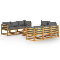 vidaXL 9-dielna záhradná sedacia súprava s podložkami akáciový masív