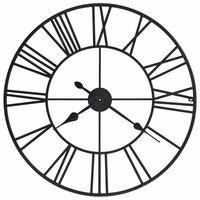 vidaXL Vintage nástenné hodiny s pohonom Quartz, kovové, 80 cm, XXL