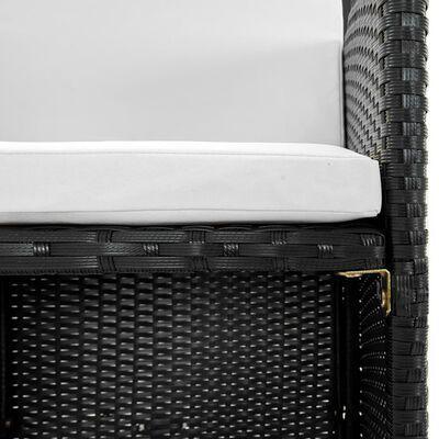 vidaXL 9-dielna vonkajšia jedálenská súprava s vankúšmi polyratan čierna