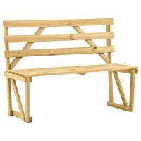 vidaXL Záhradná lavička 120 cm impregnovaná borovica